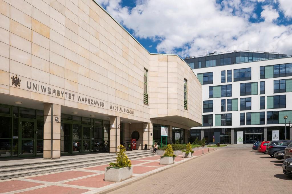 Budynek Wydziału Biologii przy ul. Miecznikowa